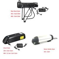 48V battery case lithium ion battery for electric scooter 48V 20ah/13ah/15ah Hailong battery 36V 10ah charger lithium