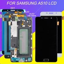 Catteny 5,2 дюйма для Samsung Galaxy A5 2016 Lcd A510 дисплей сенсорный экран панель Стекло дигитайзер сборка A510F A510M LCD + рамка
