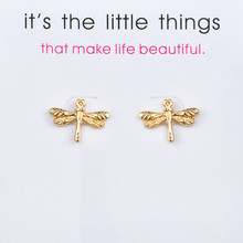 New Fashion Lucky Earrings Jewelry Animal Dragonfly Stud For Women Wedding Bride