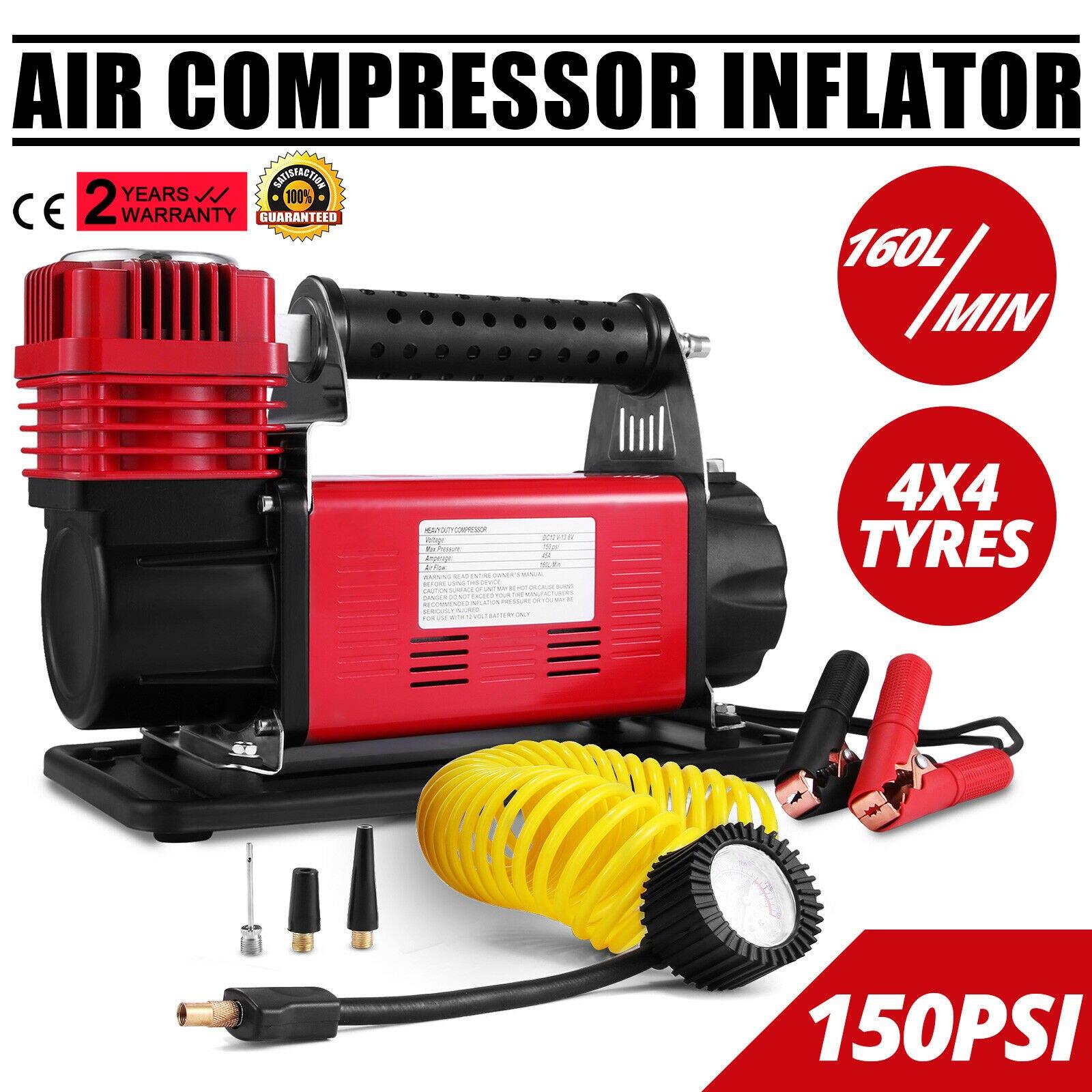 Portable Pump Heavy Duty Air Compressor 12V Robust Air Compressor Single Stage Pump Tire Tire Inflator Car Air Compressor Kit