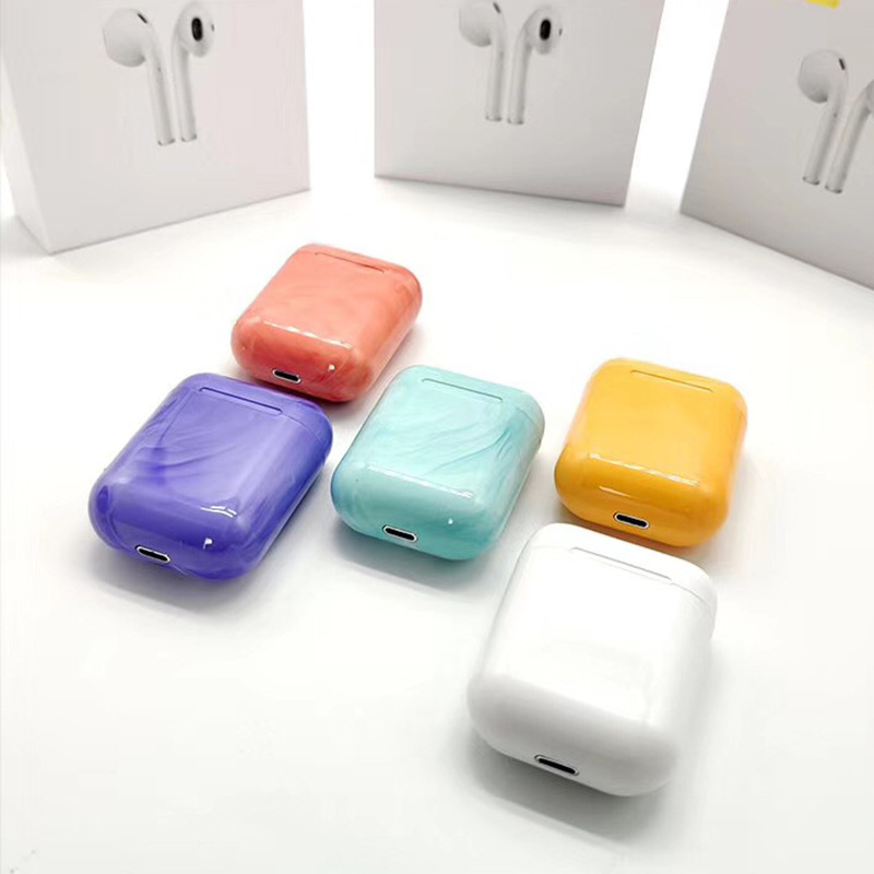 <font><b>Bluetooth</b></font> Wireless Earphones 3D Stereo Sound Headphones with Charging Box Colourful Earbuds for Iphone Xiaomi Huawei Oppo image