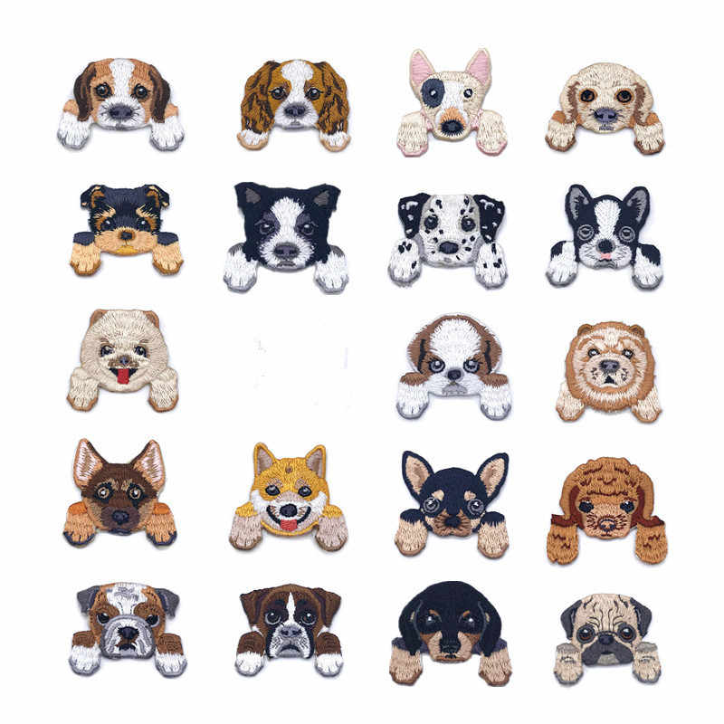 New Arrival chihhuahua terrier poodle pug shiba bull animal patch embroidered patch handmade gift embroidery iron on patch