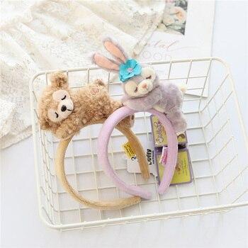 Cartoon cute paradise bear ballet rabbit sleeping face series doll headband girl heart hair accessory