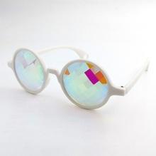 Emazing kalejdoskop + serce dyfrakcyjne okulary z tęczowymi kwadratowe szklane soczewki tanie tanio UNiHANK CN (pochodzenie) Szkło ROUND Dla osób dorosłych Z OCTANU NONE Gradient 49mm 1061f patent heart lens