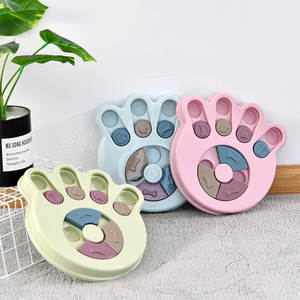 Disc-Board Dog-Toy Puzzle Food-Bowl Pet-Training Funny Leaking Biting Slow Eat