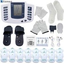 Stimolatore muscolare decine elettrico terapia muscolare digitale massaggio completo del corpo rilassamento 16 cuscinetti impulso Ems agopuntura macchina sanitaria