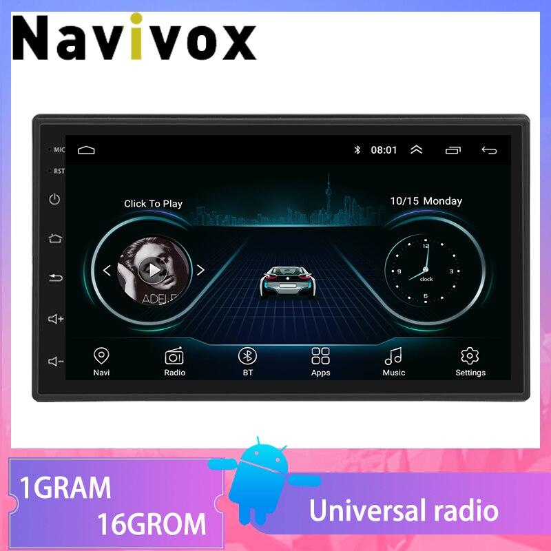 Navivox Android 8.1 Para Nissan TOYOTA Volkswagen Honda Hyundai KIA Lada Mazda Renault 2 Universal GPS Do rádio de Carro din DVD jogador