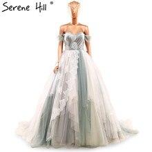 Image réelle robe de bal cascade couleur mélangée robe de mariée robe de mariée taille personnalisée et couleurs 2020 Photo réelle 66143