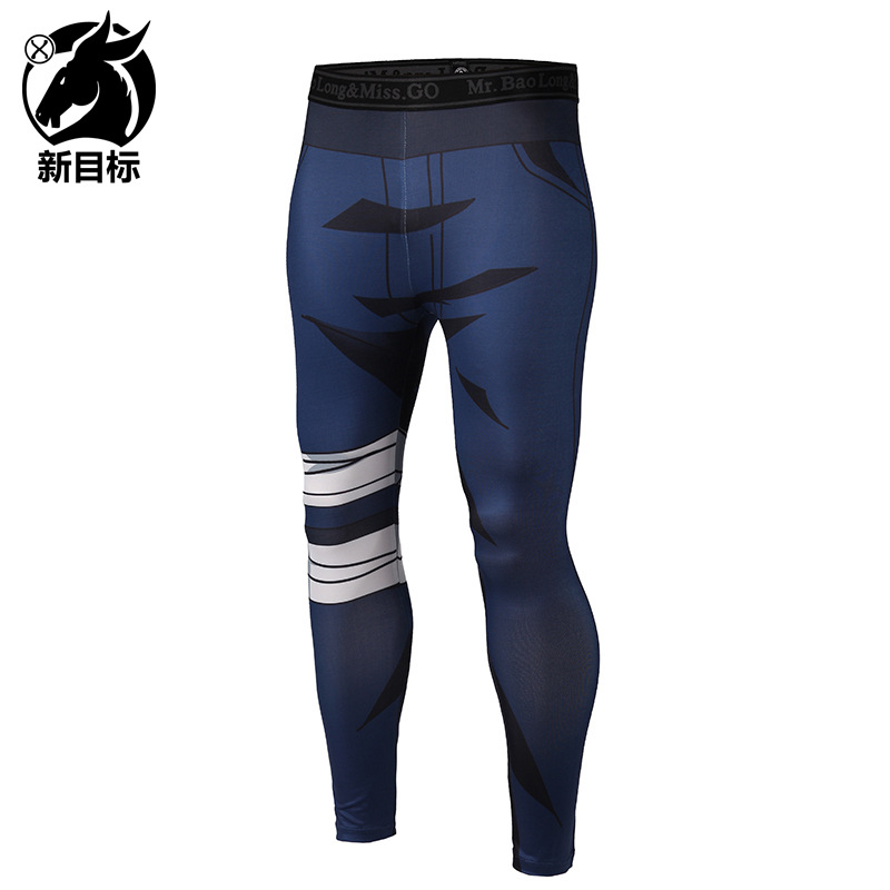 Foreign Trade Leggings 2019 Spring New Style Tight Yoga Pants Cartoon Digital 3D Printed Sports Elasticity Fitness Pants