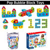 NEW Pops Push Bubble Sensory Fidget Toys Building Blocks Assembly Toys for Kid Gifts Adult Family Interactive Playing Games