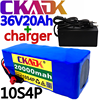2020 original 36v bateria 10s4p 20ah bateria 1000w bateria de alta potência 42v 20000mah ebike bicicleta elétrica bms + 42v2a carregador