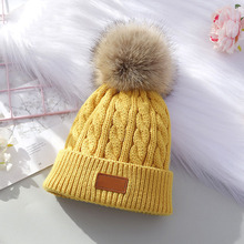 Kids Hat Bonnet Pompom Knitted Baby-Boys-Girls Beanie Toddler-Cap Warm Baby Infant Winter
