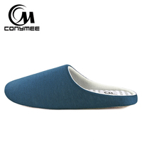 Winter Men Home Slippers Casual Indoor Shoes Footwear Soft Plush Bedroom Slippers Sandals Non-slip Male Warm Cotton Slipper Shoe 2
