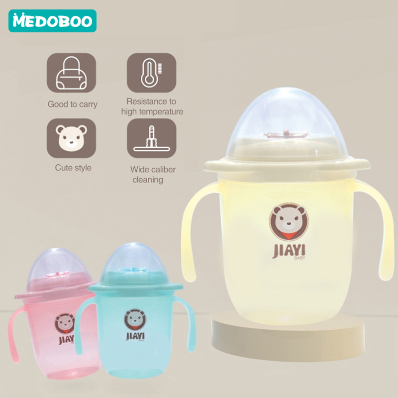Medoboo BPA Free Baby Bottle Cup Cartoon Feeding Drinker Sippy Cup Infant Baby Training Feeding Bottle Children Water Bottles in Cups from Mother Kids