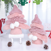 Christmas childrens holiday gift creative decorative pink wool wood new cute tree decoration  In 2019 the