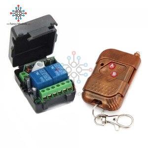 Реле постоянного тока 12 В 10A, 2 канала, беспроводной Радиочастотный пульт дистанционного управления, передатчик + приемник для автомобиля