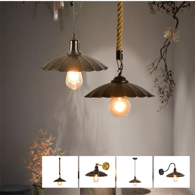 Loft Bedroom Pendant Light Cafe Restaurant Bar Counter Wall Lamp Droplight Without Bulb