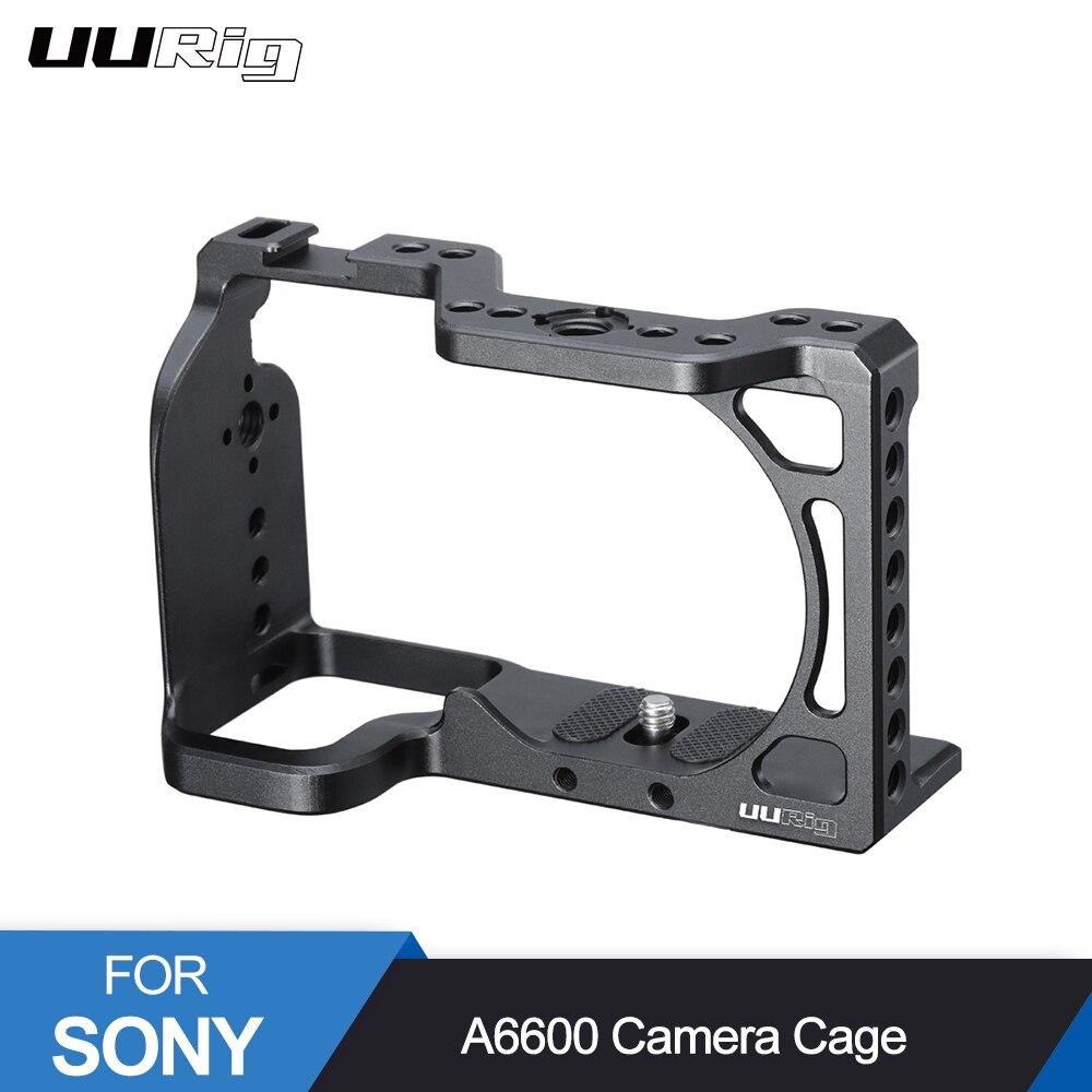 Cage en métal d'appareil-photo d'uurig A6600 pour la Cage de DSLR de Sony A6600 avec la localisation d'arri de chaussure froide