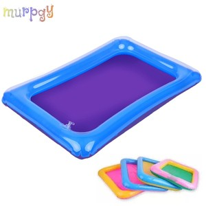 Inflatable Dynamic Sand Tray Indoor Magic Play Sand Educationa Children Toys Space Inflatable Accessories Plastic Mobile Table(China)
