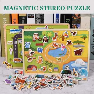 Wooden Magnetic Puzzle Animals