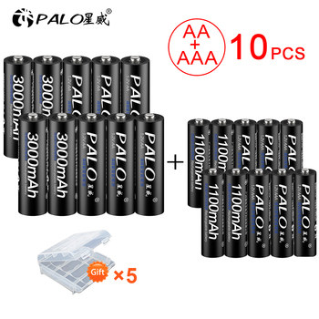 new 8pcs AA Rechargeable Batteries 3000mAh 1.2V AA+Ni-MH AAA Battery 1100mAh rechargeable batteries 3A AA Battery for toys power 4pcs lot new masterfire ni mh aaa 2 4v 800mah ni mh battery rechargeable cordless phone batteries pack with plugs