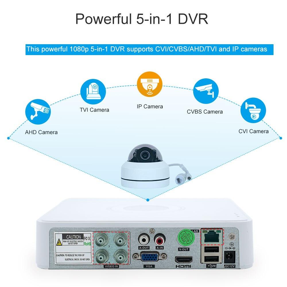 Nowy HD 5MP rejestrator 4 kanałowy CCTV AHD DVR AHD-N hybrydowy DVR 1080P DVR 5in1 wideorejestrator dla AHD TVI CVI CVBS kamera analogowa kamera IP