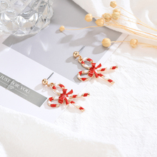 16 Style Alloy + Drop Adhesive Cute Santa Claus Snowman Tree Bell Romantic Christmas Earring Women Girls Christmas Jewelry Gifts