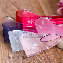 100yards 25mm 38mm printed butterly bowknot organza sheer ribbon hair bow diy accessories hand craft supplies girl decoration