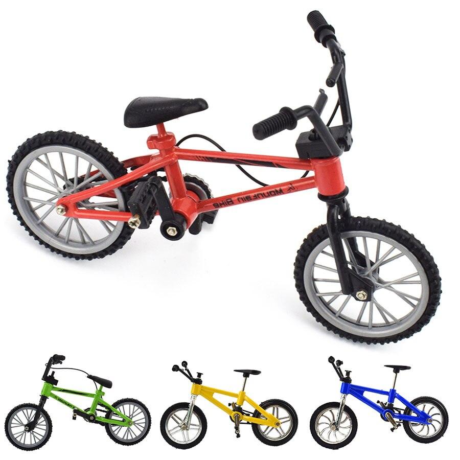 Мини пальцевый велосипед игрушки для детей мини велосипед с тормозным тросом сплав bmx функциональный горный велосипед модель игрушки для д...
