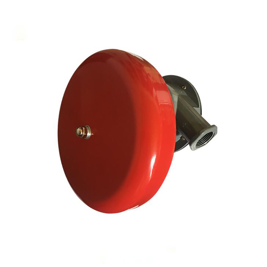 Red Fire Alarm Bell Valve With DN20 Outlet And DN25 Inlet, Fire Hydraulic Alarm Bell Wet Type Alarm Valve Accessories