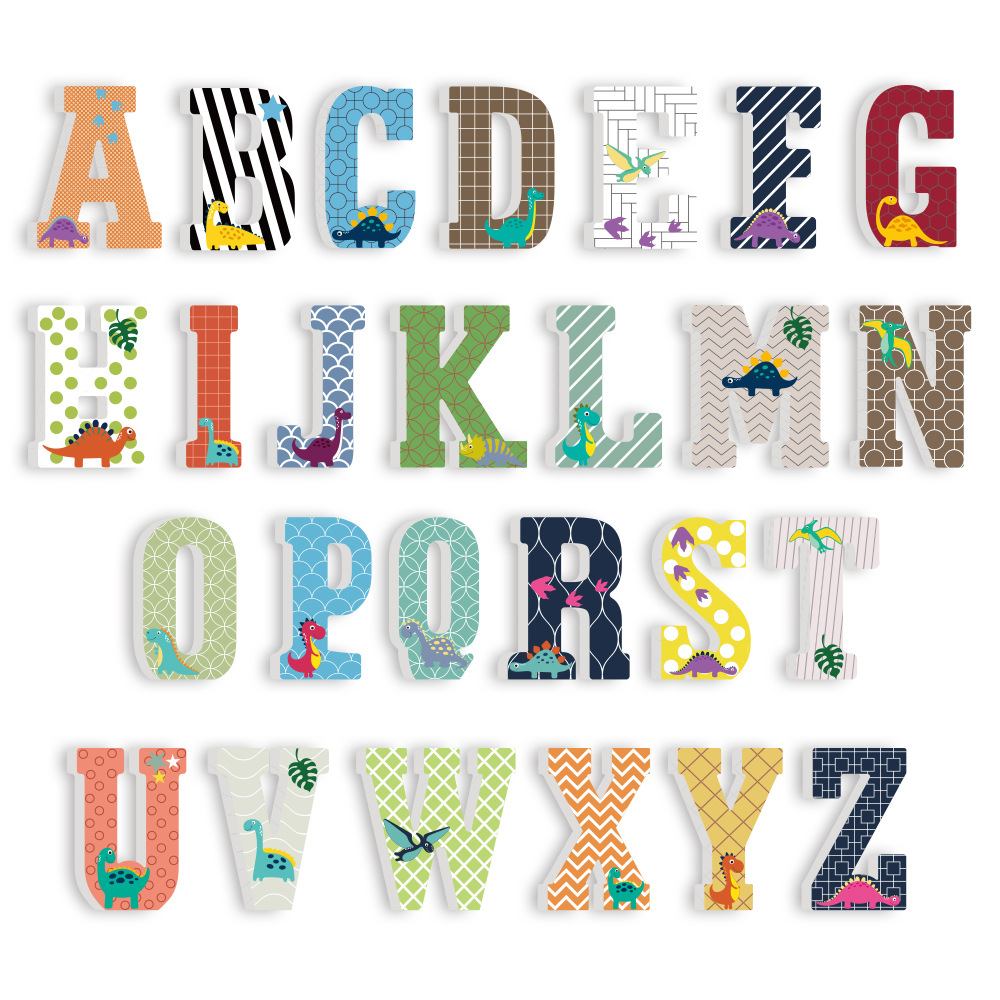 3D PVC Uppercase English Alphabet Letter Stickers Kid's Room Decoration Kindergarten Playground Baby Nursery Decorative Letters