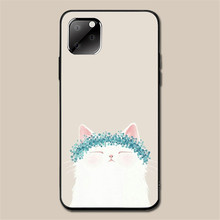 for Iphone 11Pro Max XR Iphone11 Max Ip7 8Plus 6 Case Cute Cat Case Cartoon Tpu Silicon Black Case Full Protective Back Cover cute cartoon owl style protective plastic back case for iphone 5c light yellow multicolor