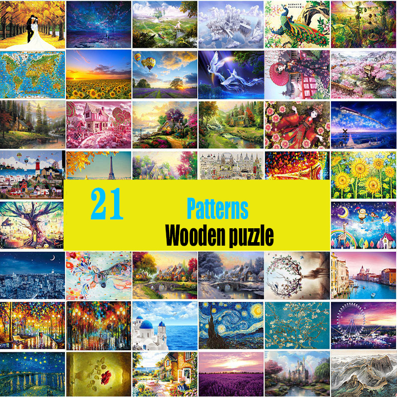 jigsaw picture puzzles 1000 pieces educational wooden toys for adults children kids games  brain teaser