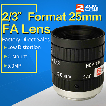 5.0 Mega Pixels and large aperture 25mm Mono Manual Iris suitable for various applications FA / Machine VisionLow distortion