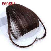 Pince à franges faux brun noir pagills dans les Extensions de cheveux avec Fiber synthétique haute température pour les femmes