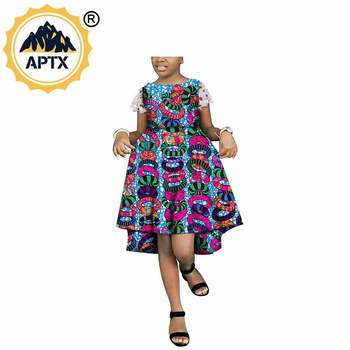 African dress, family, customizable size, girl's dress Ankara batik lovely dress pure cotton dress cotton material S1845005 фото