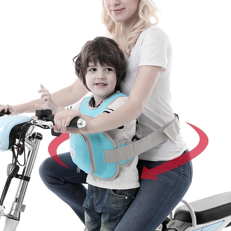 Children Bike Safety Vest Belt Adjustable Baby Harness Assistant Motorcycle Bicycle Strap Kids Cycling Back Seat Protection Belt