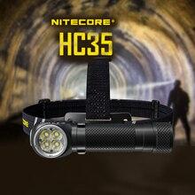 2700 люмен, налобный фонарь Nitecore HC35 4 x CREE XP-G3 S3, светодиоды следующего поколения 21700, L-образный, с батареей 4000 мАч