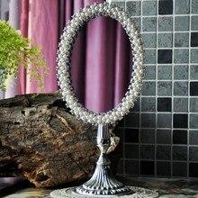 Canaan's Lotus European Retro Baroque Desk Mirror Dressing Mirror Gift Cute Creative HD Desktop Princess Makeup Mirror Figurines