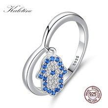Женское кольцо с голубым глазом kaletine обручальное подвеской