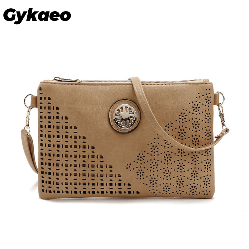 Gykaeo Hot 2019 Summer Ladies Hollowed Out Casual Envelop Bags For Women Messenger Bags Female Small Evening Clutch Shoulder Bag