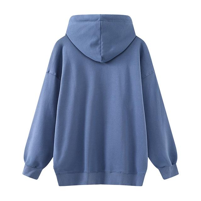 Oversize girls streetwear loose hoodies 2020 autumn fashion ladies stylish cotton hoodie casual female chic pullovers women cute 2