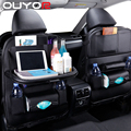 Органайзер на спинку сиденья автомобиля, сумка из искусственной кожи для подушек, органайзер для хранения в автомобиле, складной столик, до...