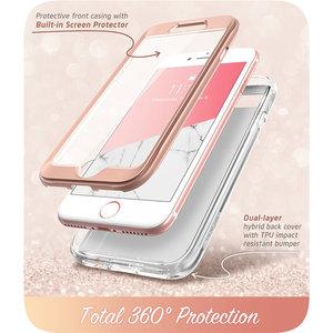 Image 4 - Capa para iphone se 2020, case de corpo inteiro para iphone 7/8, 4.7 polegadas, i blason cosmo, amortecedor de mármore capa com protetor de tela embutido