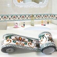 3D обои границы современные цветы ПВХ самоклеющиеся водонепроницаемые съемные наклейки на стену геометрический домашний декор искусство 3D стены границы