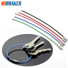 EDC Keychain Carabiner Cable-Rope Wire-Keyrings Screw-Locking Stainless-Steel Outdoor-Tools