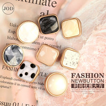 Square Pearl Metal Buttons for Clothing Sewing Accessories Button on Clothes Women Decorative DIY Italy Fashion High Quality цены