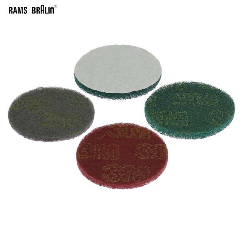 1 Piece Non-woven Fibre Coarse To Fine Sanding Disc 100mm / 125mm / 150mm