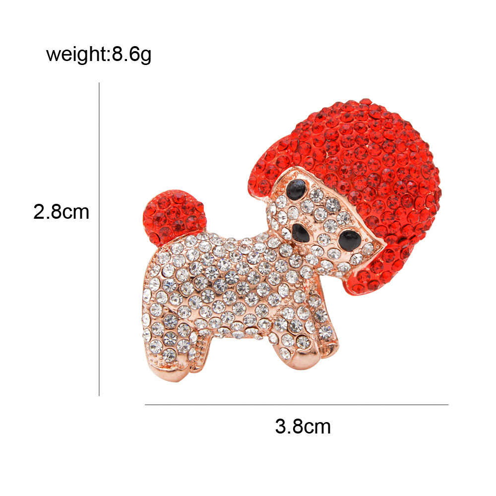Cindy Xiang Berlian Imitasi Anjing Bros untuk Wanita Anak Anjing Lucu Enamel Hewan Bros Mantel Aksesoris Musim Dingin Perhiasan Berkualitas Tinggi