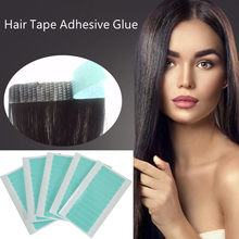 5 Sheets 60pcs High Grade Hair Tape Adhesive Glue 4cm*0.8cm Double Side Tape Waterproof for Lace Wig Hair Extension Tool(China)